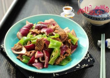 青椒洋葱炒牛肉1