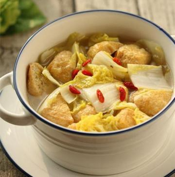 大白菜烩豆腐泡1