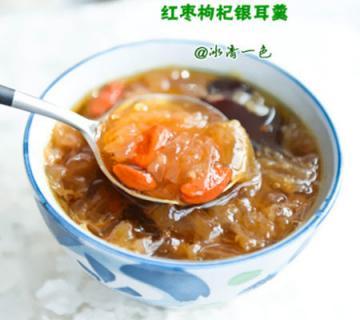 红枣枸杞银耳羹1