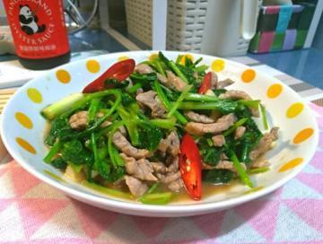 蚝油芥蓝炒牛肉1