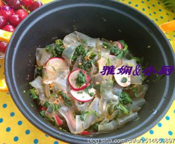 荠菜萝卜拌粉皮1