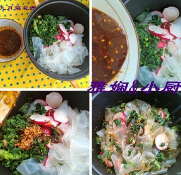 荠菜萝卜拌粉皮2