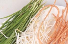 韭菜炒馓子1