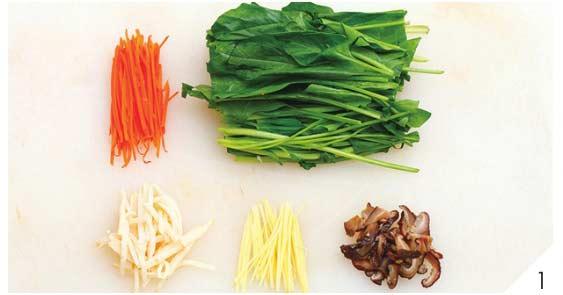 胡萝卜炒菠菜1