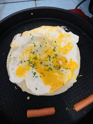金黄的鸡蛋煎饼6