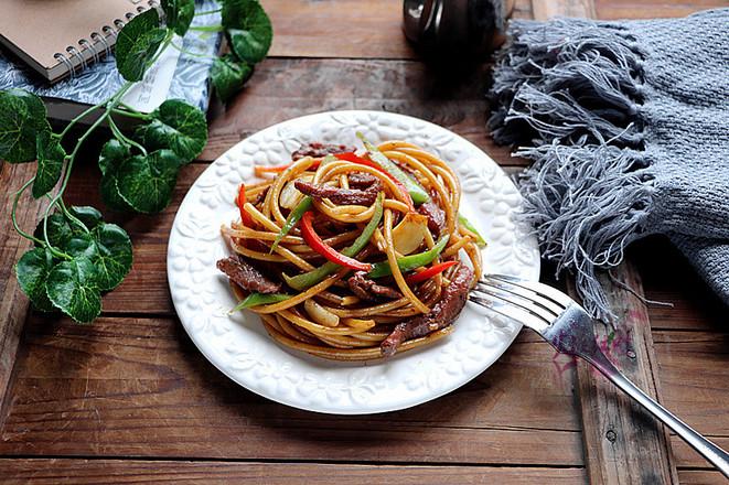 青椒牛柳意大利面的做法技巧和步骤8