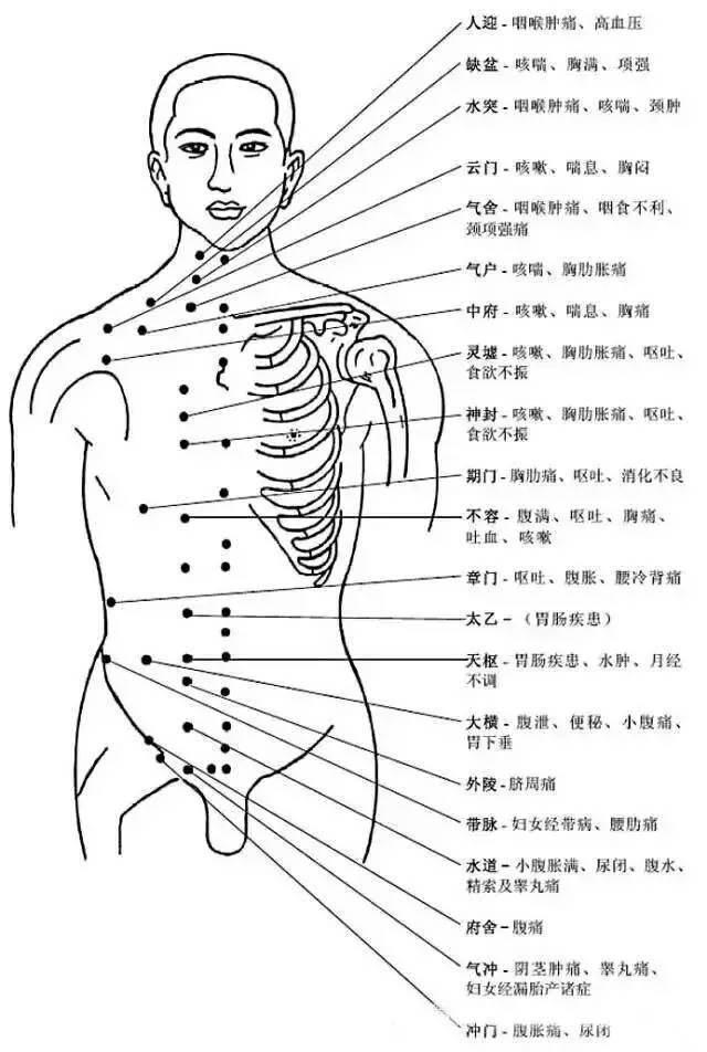 人体穴位有哪些?对应穴位都有什么功效 ?5